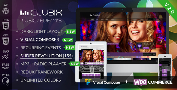 Clubix v2.0.1 – Nightlife, Music & Events WordPress Theme