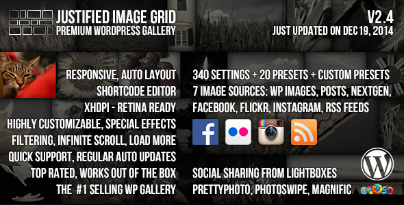 CodeCanyon – Justified Image Grid v.1.8 – Premium WordPress Gallery [Latest Version]