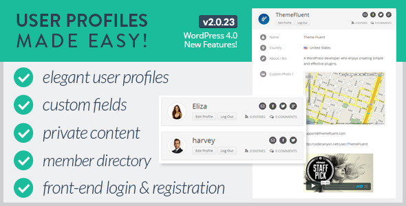 Codecanyon – User Profiles Made Easy v2.0.3 WordPress Plugin
