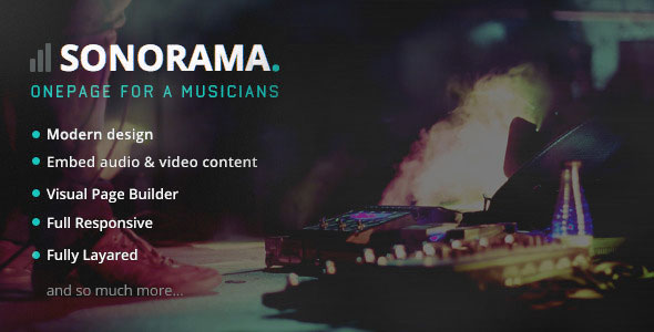 Sonorama v1.2 – Music Band & Musician WordPress Theme