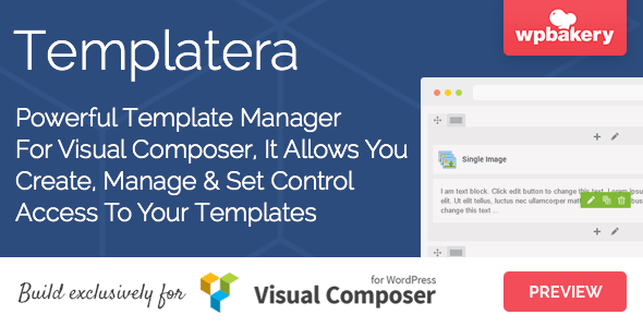 Templatera v1.0.2 – Template Manager for Visual Composer
