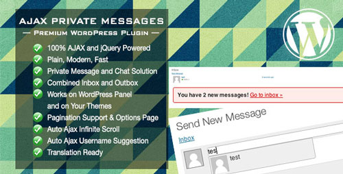 Ajax Private Messages v.1.0 WordPress Plugin
