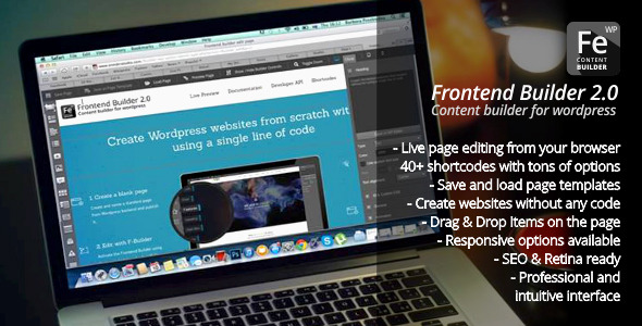 Frontend Builder v2.9.0 – WordPress Content Assembler