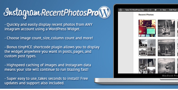 Instagram Recent Photos Widget Pro v.1.1.2 for WordPress