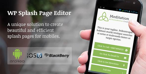 CodeCanyon – WP Mobile Splash Page Editor v1.2.4