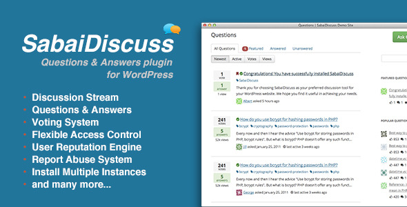 CodeCanyon – SabaiDiscuss v1.1.9 for WP