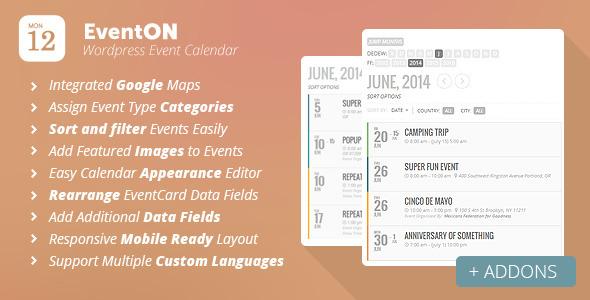 CodeCanyon – EventOn v.2.2.2 – WordPress Event Calendar Plugi