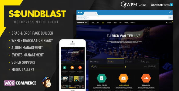 ThemeForest – SoundBlast v1.1 Music Band WordPress Theme
