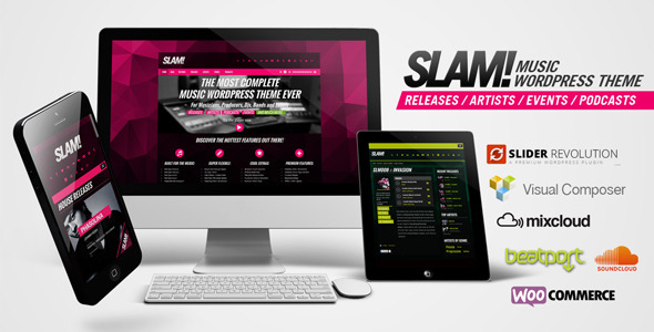 SLAM v3.1.7 – Music Band, Musician and Dj WordPress Theme