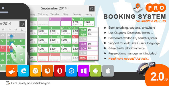 CodeCanyon – Booking System PRO (WordPress Plugin)