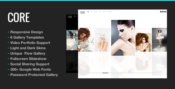 ThemeForest – Core v5.1.2 Minimalist Photography Portfolio Theme