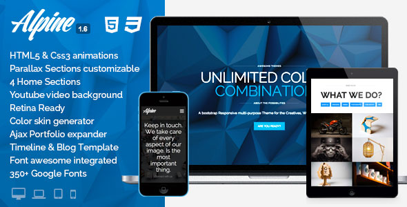 Alpine v1.4 – WordPress Responsive One Page Parallax
