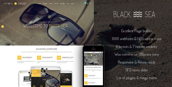 Black Sea v1.1.1 – clean & clear multi-purpose theme