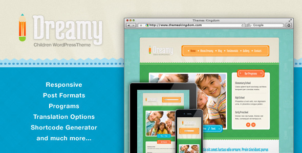 Dreamy v1.9.1 – Responsive Children WordPress Theme