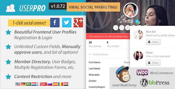UserPro v1.0.71 – User Profiles with Social Login