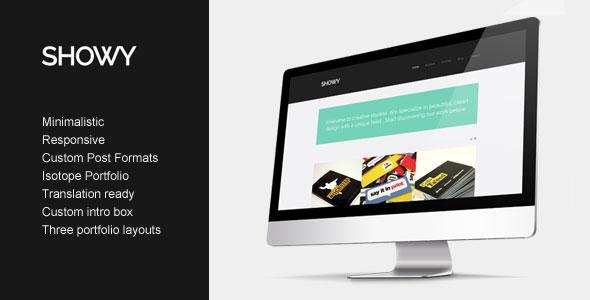 Showy v1.0 – Themeforest Bold & Flat Portfolio