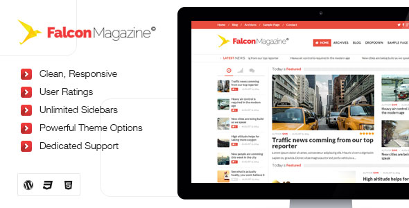 Falcon v1.0 – Responsive WordPress Magazine Theme