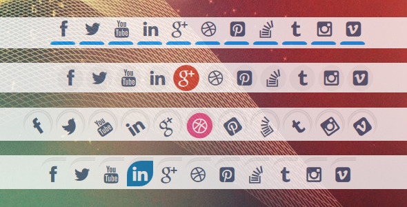 9 Styles Of Special Animated Social Media Icons