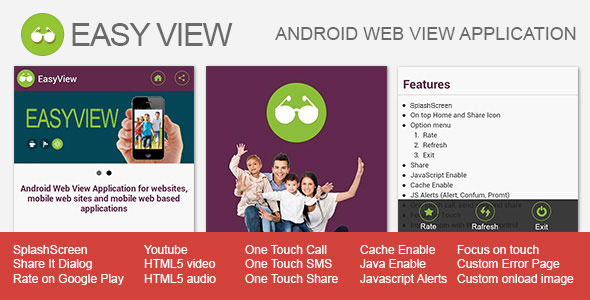 EasyView - Android WebView App