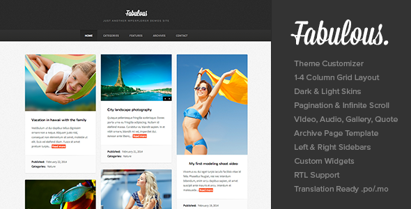 Fabulous - Responsive Masonry Blog WordPress Theme