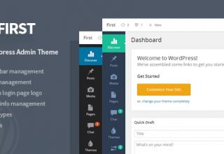 First — WordPress Admin Theme