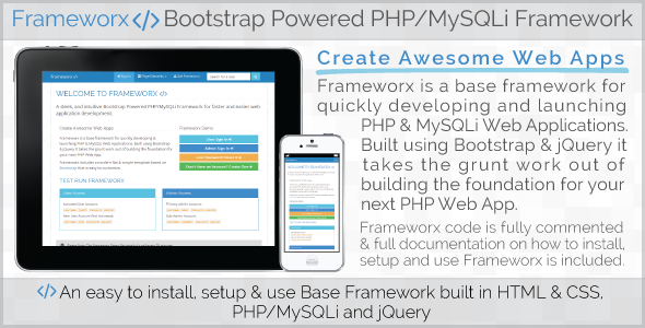Frameworx - Bootstrap Powered