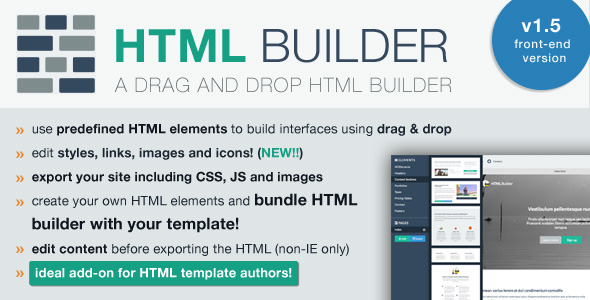 HTML Builder (Front-End Version)