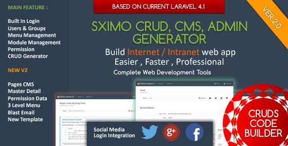 Laravel CMS - CRUD Builder