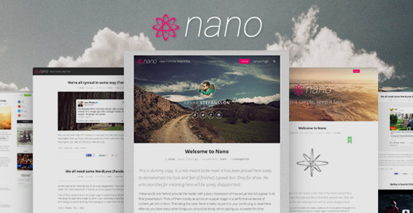 Nano Minimalist & Highly Customizable WP Blog