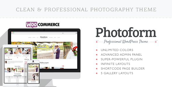 Photoform - Photography WordPress Theme
