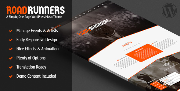 RoadRunners - Music WordPress Theme