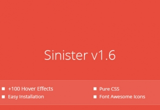 Sinister — Pure CSS Image Hover Effects