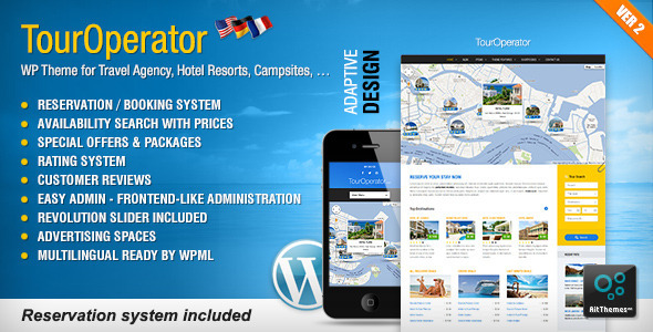 Tour Operator WP theme with Reservation System