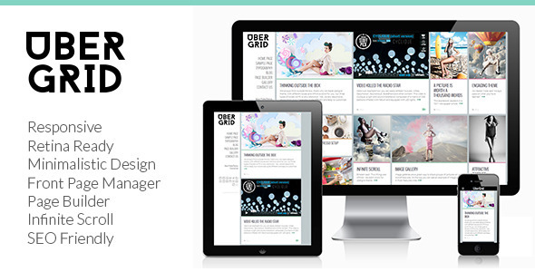Ubergrid - Responsive Grid WordPress Theme