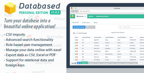CodeCanyon – Databased v1.0.5 – Personal Edition