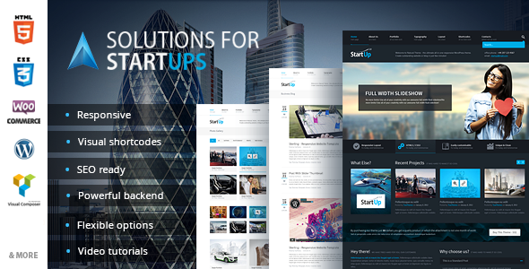 Solution for Startups - MultiPurpose WP Theme