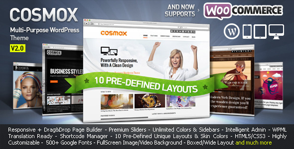 COSMOX - Multipurpose WordPress Theme