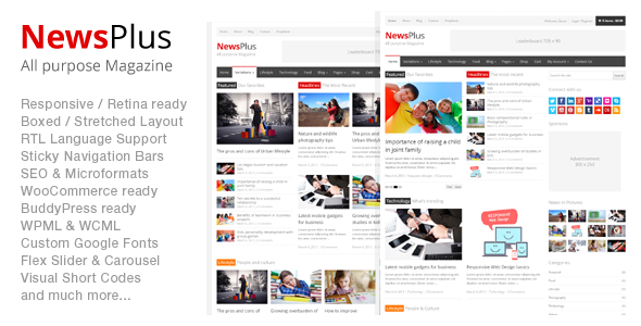 NewsPlus - MagazineEditorial WordPress Theme