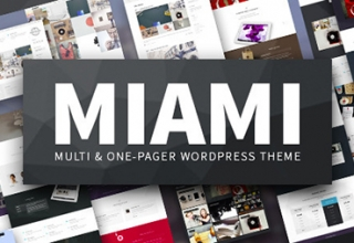готовые шаблоны сайтов wordpress | ready made website templates MIAMI WordPress