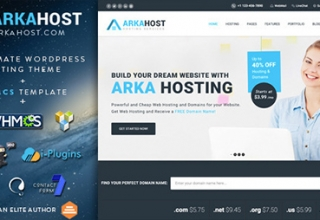 шаблон хостинга для wordpress | ARKA HOSTING Theme WordPress